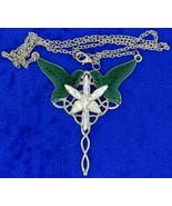Arwen Evenstar Wood Elf Leaf Necklace Elvish Princess Design Chain Lengt... - $6.99+
