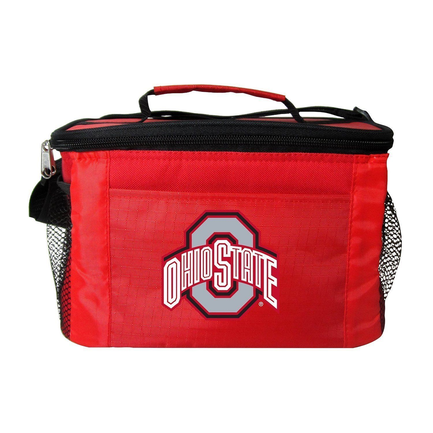 OHIO STATE BUCKEYES LUNCH TOTE 6 PK BEER SODA TEAM LOGO KOOLER BAG NCAA