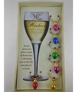 Set of 6 Christmas Wine Glass Markers Mini Christmas Lights Boston Wareh... - $6.92
