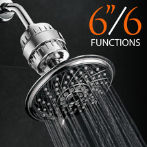 HotelSpa 6-Setting 6-inch Rainfall Shower Head with Universal Shower Filter - $44.99