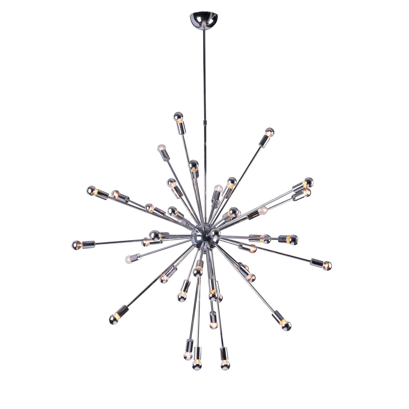 Jonathan adler look chrome mid century modern orbit for Sputnik chandelier