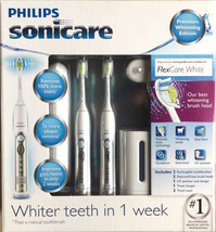 Philips Sonicare FlexCare Whitening Edition Rechargeable Toothbrush 2-Pack NEW - $188.99