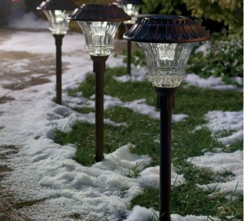 Walkway Spotlights: Solar LED Path Lights Outdoor Walkway Pathway Backyard