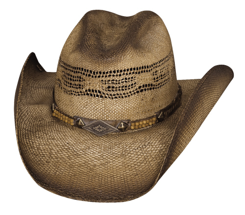 Primary image for Bullhide Full Speed Bangora Straw Shapeable Cowboy Hat Vented Cattleman Natural