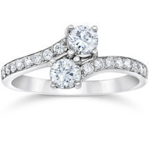 1.50Ct Forever Us 2 Stone Two Diamond Ring 14K White Gold - £812.91 GBP