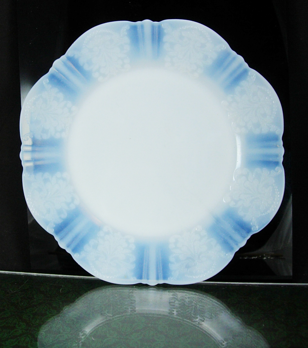 "8"" Salad Plate American Sweetheart-Monax White by MacBeth-Evans blue undertones  - $22.00"