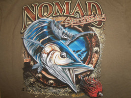 Nomad Sportfishing Fish Lures Green Graphic Print T Shirt - M - $18.45