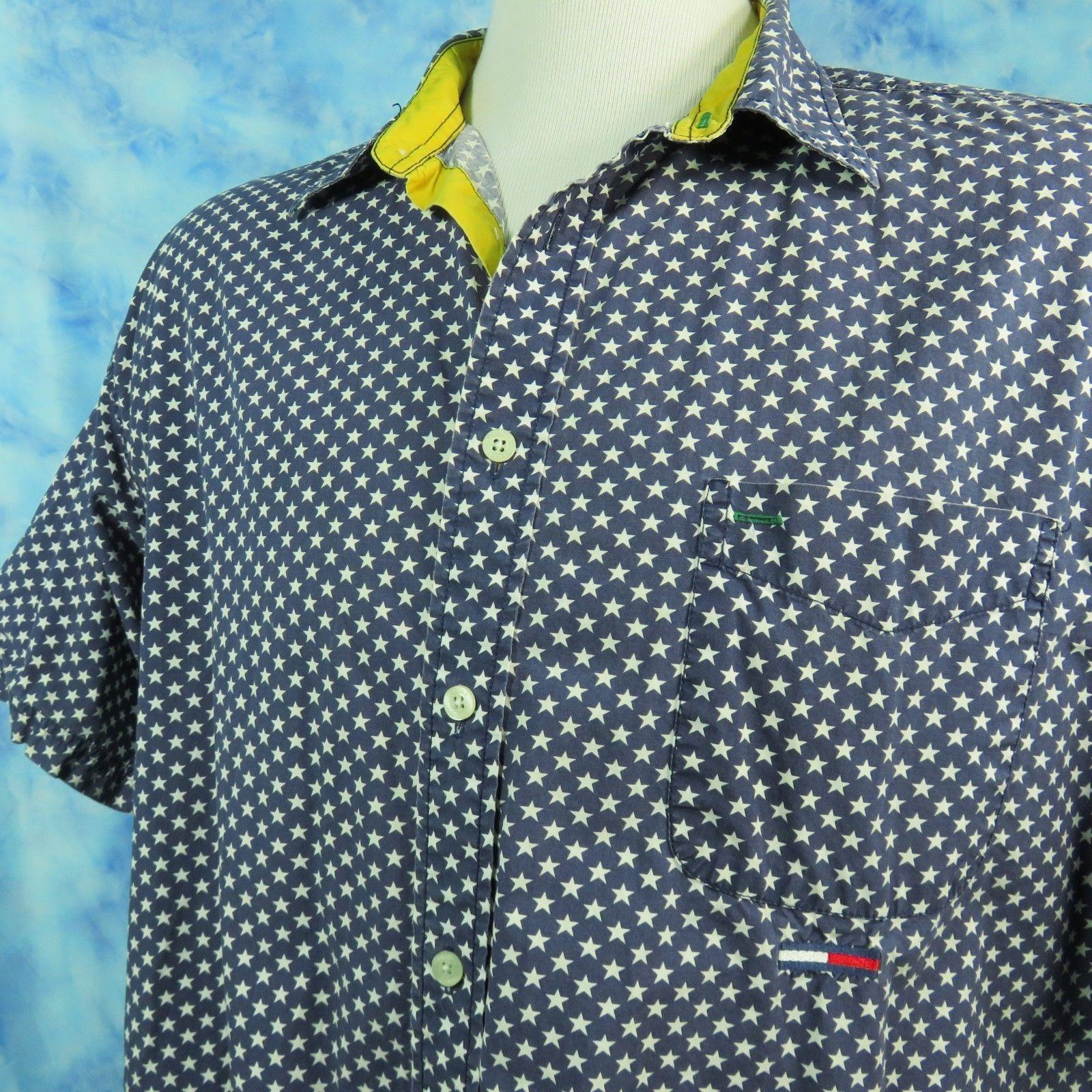 a66336d28 Vtg 90s Tommy Hilfiger Shirt Mens XXL Stars and 48 similar items. 57