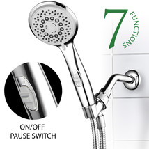 7-Setting High-Power Spiral Handheld Shower Head w/ Patented ON/OFF Paus... - $21.05