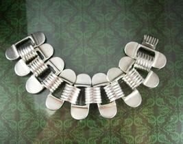 Signed Sterling bracelet HEAVY arts crafts MEK Wide mens womens thick an... - $425.00