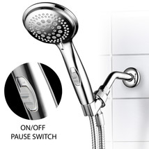 9-Setting Hand Shower with Patented ON/OFF Pause Switch (Premium Chrome ... - $24.99