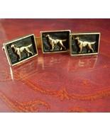 Golden Retriever Cufflinks DOG Tie clip Pointer Hunting Irish setter Vin... - $145.00