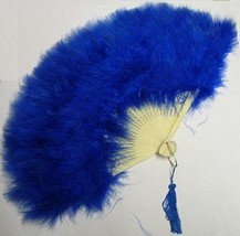 BLUE MARABOU FEATHER FAN - $15.00