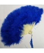 BLUE MARABOU FEATHER FAN - $15.00