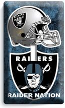 Oakland Raiders Nation Nfl Football Team Single Light Switch Wall Plate Room Art - $7.99