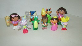 Dora the Explorer figures Dora Isa Swiper Boots Diego Prince Princess toy lot  - $14.84