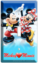 Mickey Mouse And Minnie Love Ice Skating Single Light Switch Wall Plate Cover Cd - $8.99