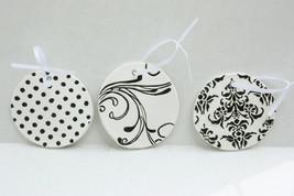 Clay Circle Gift Tags, Set of 3 Gift Tags - Handmade - $14.99