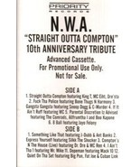 N.W.A. - Straight Outta Compton - 10th Anniversary Tribute CASSETTE  - $17.99