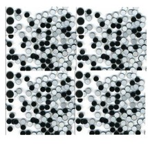 MIRROR  Hot Fix Nailheads BLACK  Iron on  3mm 1gr - $3.71