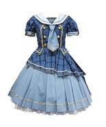 Angelic Pretty Tartan Holic OP Sax Sailor Onepiece Dress Lolita Japanese... - $598.00