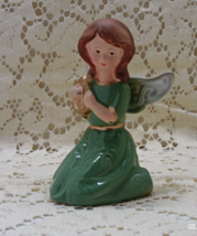 Vintage Christmas Angel / Decorative Angel Figurine With Lyra Musical Instrument - $10.50
