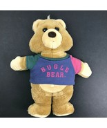 "RARE 1990's 14"" Bugle Boy Bear Plush Stuffed Animal Color Block Shirt No... - $18.98"