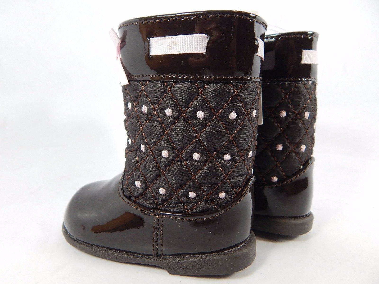 NWT BABY DEER Quilted Infant Toddler Girl Boots Shoes Size 2 0-12 Months
