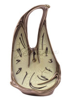 NEW Art Nouveau Melting Clock 8394 Magnificent!... - $75.60
