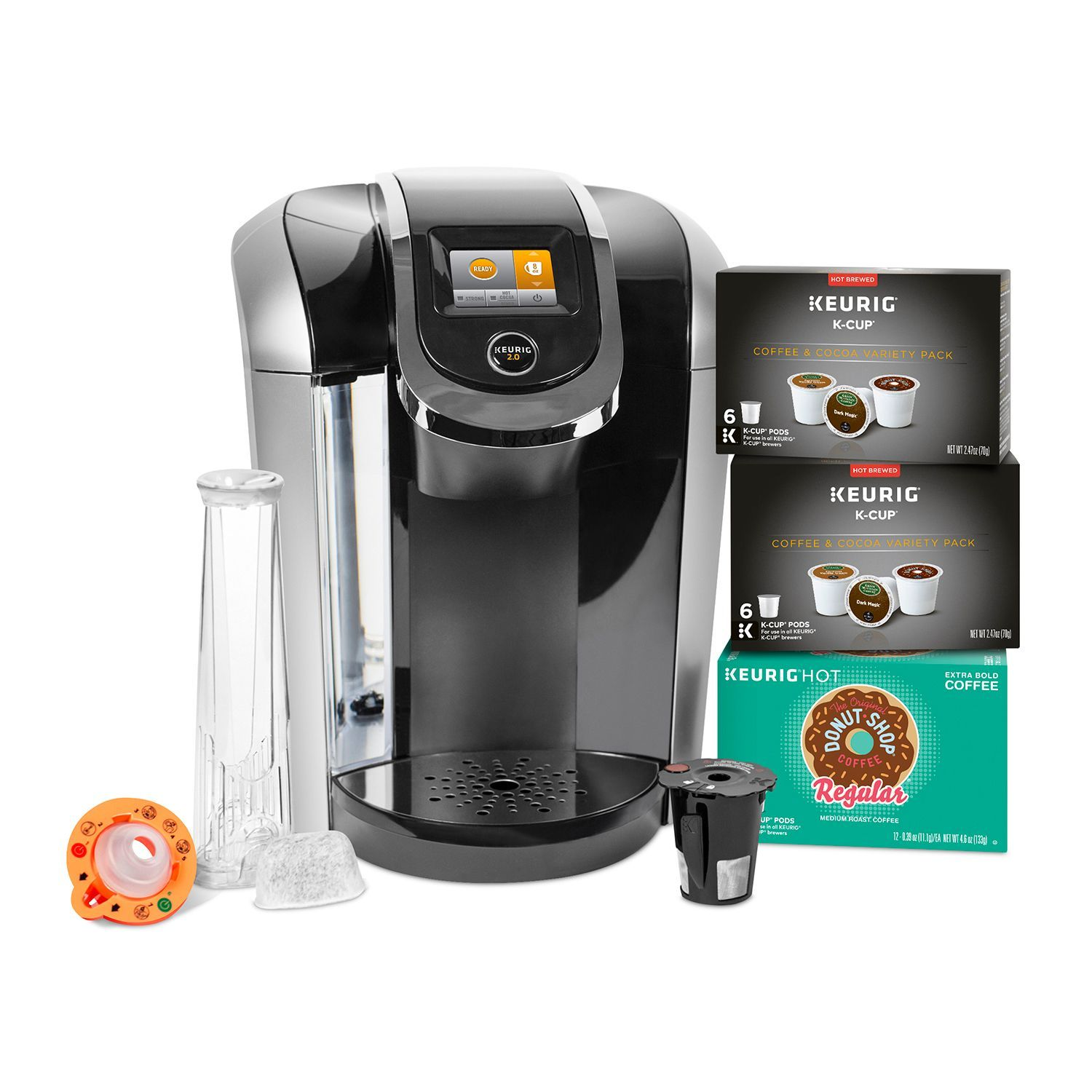 Coffee Maker For Pods : Keurig K425S Coffee Maker with 24 K-Cup Pods & Reusable K-Cup 2.0 Coffee Filter - Coffee Makers ...