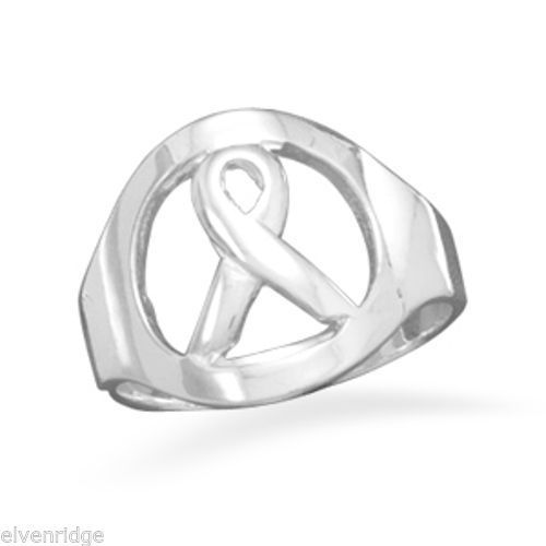 Awareness Ribbon Ring Sterling Silver