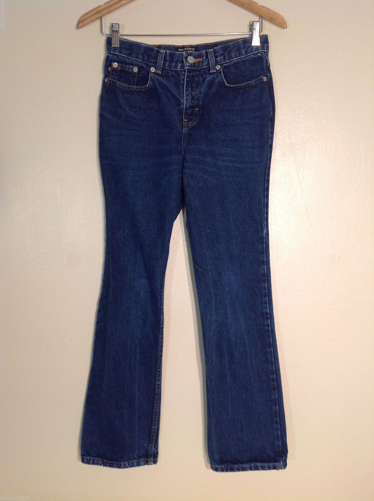 Polo Ralph Lauren Women's Size 8 Denim Blue Jeans Medium Wash, Rise Boot Cut