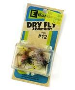 Vintage Glen L. Evans Luhr Jensen Dry Fly Assortment Size #12, Open Old ... - $23.75