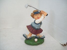 David Frykman  The Golfer DF3084, 1998 Lady Golfer Golf Figurine Collect... - $12.86
