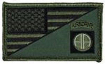 Primary image for ARMY 82ND AIRBORNE OD GREEN FLAG 2 X 3  EMBROIDERED PATCH WITH HOOK LOOP