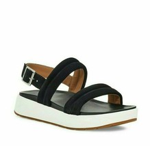 New UGG LYNNDEN Womens Black Suede 1111071 Soft Leather Sandals Size 8.5 - $98.99