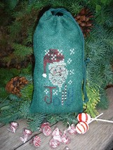 Jollyl Bag santa winter holiday cross stitch kit Shepherd's Bush - $12.00