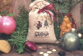 Christmas Treat Bag santa winter holiday cross stitch kit Shepherd's Bush - $15.00