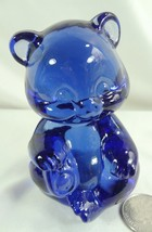 Fenton 3.5 Sitting Bear Cub Hyacinth Glass Teddy Bear  - $29.99