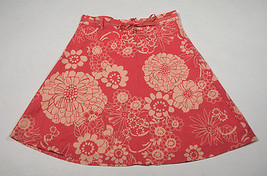 Gap Kids Girls Size 8 Skirt Orange Floral Flower Skirt Spring Summer - $12.61
