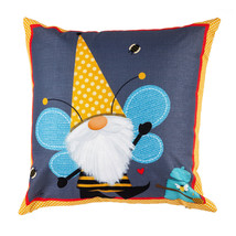 Gnome 4PLC383 Honey Honeycomb Bee 18 x 18 Inddor Outdoor Pillow Cover - $15.84