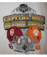 Oklahoma Sooners Clemson Tigers Victory 2015 Orange Bowl Football T-Shir... - $13.54