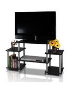 TV Stant Entertainment Modern Media Unit HomeTheater Open Storage Square... - $47.49
