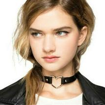 Heart Choker Necklace Pendant Velvet Collar Crystal Neck Decor Band Leather Punk - $6.88