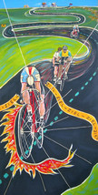 """Cycling painting """"Ziel!"""" by original artist - $480.15"""