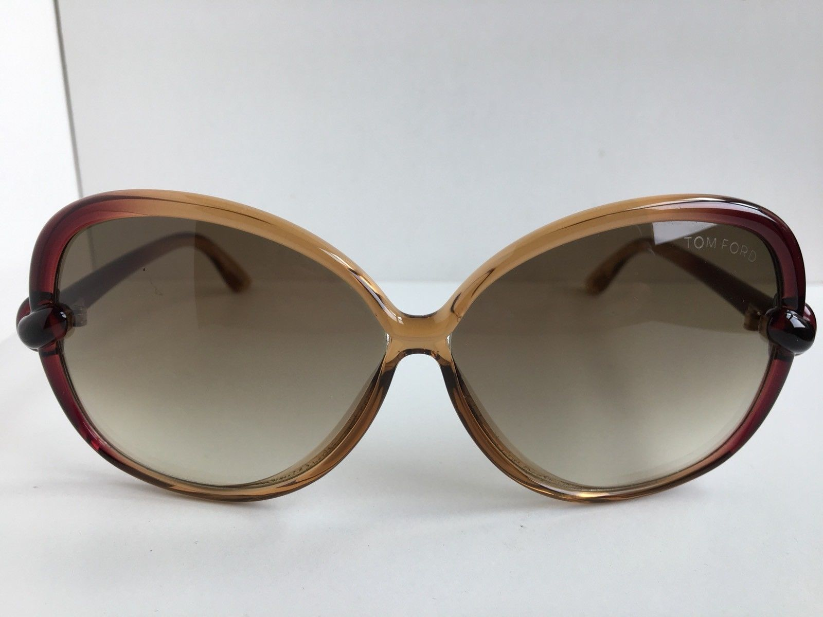 dfe08376d0 New Tom Ford Ingrid TF 163 TF163 71F 62mm Amber Oversized Women s Sunglasses