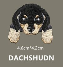 "Dachshund Dog Embroidered Patch - 1 1/2 x 1 1/2"" Shipped from USA - $4.90"
