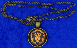 World of Warcraft Alliance Necklace WOW Game Cabochon Chain Style Length... - $4.99+