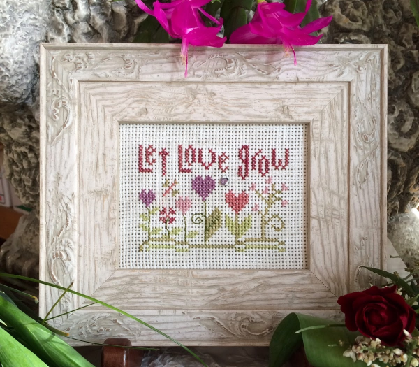 Let Love Grow Kit cross stitch kit Shepherd's Bush - $16.00