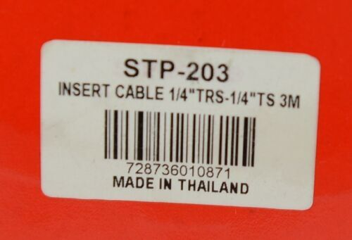 Hosa Technology STP203 Insert Cable Quarter Inch TRS To Dual Same TS